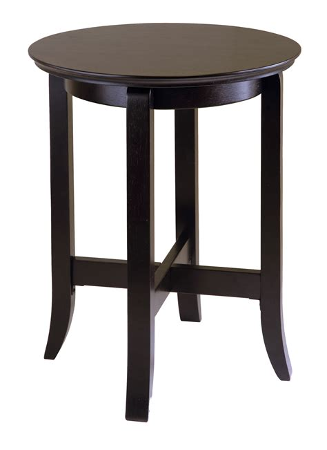 Wooden End Tables Espresso Wood End Table In Side Tables
