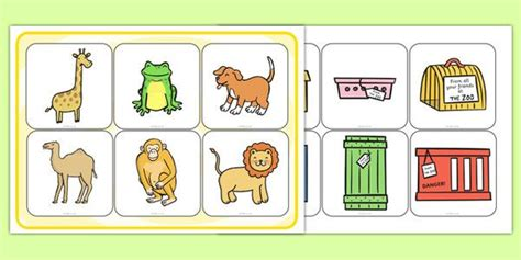 dear zoo printable animals dear zoo matching activity animals comparing match