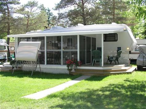 add a room rv add a room with insulated lodge deck screen room ideas room rv and cing