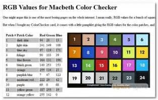 macbeth color checker 40 sheets for web designers techworthy