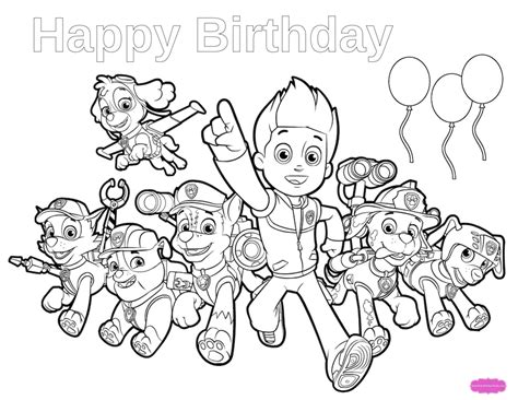 happy birthday coloring pages games paw patrol birthday get ready for a pawtastic party with