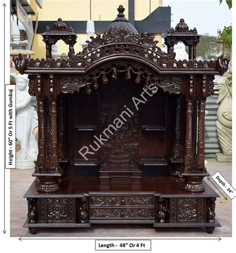 code 99 wooden carved teakwood temple mandir wooden