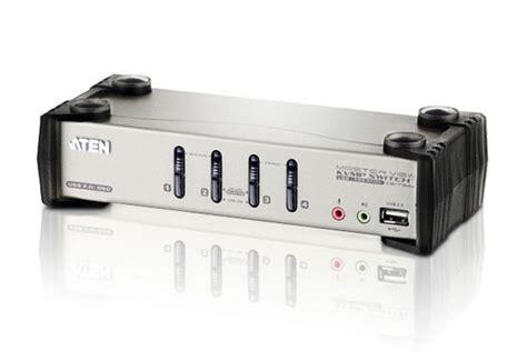 Murah Kvm Aten 4 Port Vga Audio Switch Vs0401 cs1734b aten cs1734b 4 port usb 2 0 kvmp switch with osd and audio