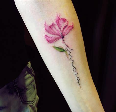 stem tattoo designs 40 wonderful watercolor tattoos for tattooblend
