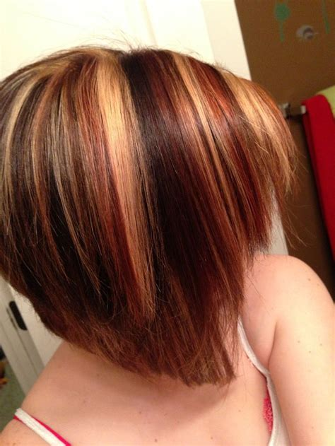 chuncky bob hair cuts short bob with red highlights 20 gallery images