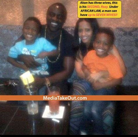 Rapper Akon Has Three by Mto World Exclusive We Exclusive Pics And Images