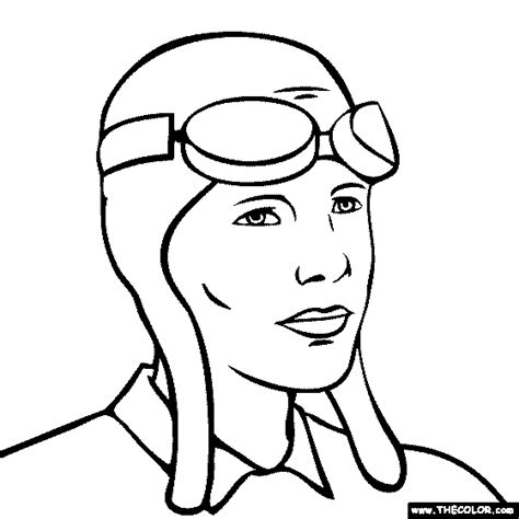 airplane coloring pages amelia earhart airplane coloring