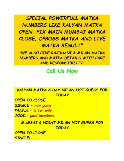 kalyan matka dpboss ka boss matka indianmatka matka tips and matka results for kalyan matka
