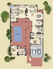 u shaped house plans with central courtyard 4 swimming