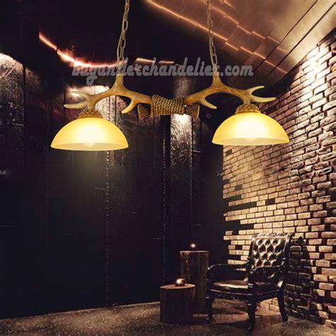 best 2 antler chandelier two cast ceiling lights antique