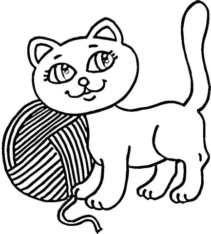 yarn ball coloring pages