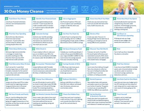 30 Day Detox Plan by The 30 Day Money Cleanse A Step By Step Detox Program For