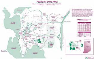 map state parks pokagon state park map images