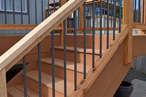 Installing Handrail Composite Decking Material Installation Near Yelm Ajb
