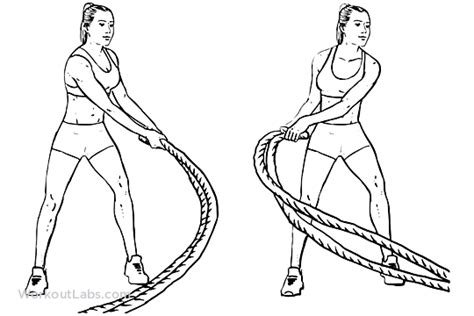 side to side swing battle rope side to side swings workoutlabs