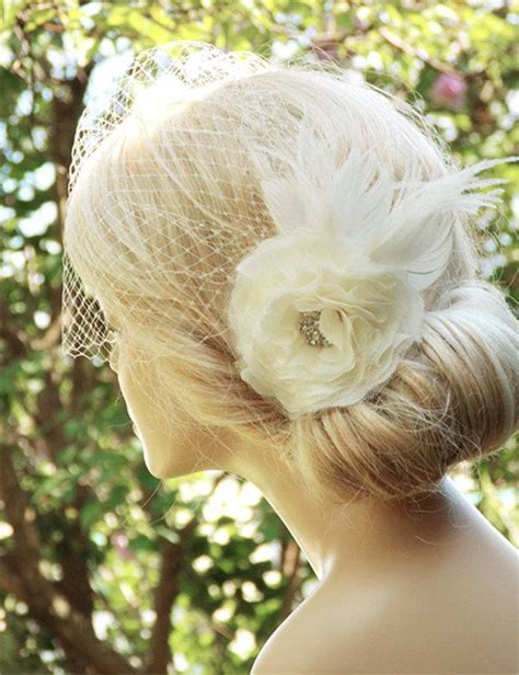 Wedding Hair For Birdcage Veil by Bridal Birdcage Veil Wedding Hairstyles Bridal Hair