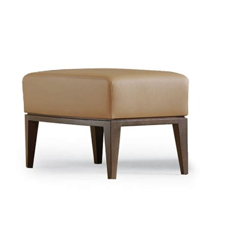 poof couch poof on a frame of solid beech upholstered in leather or