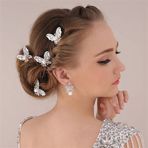 Wedding Hair Accessories Butterfly by Tripleclicks Hair Jewelry Accessories Wedding Bridal