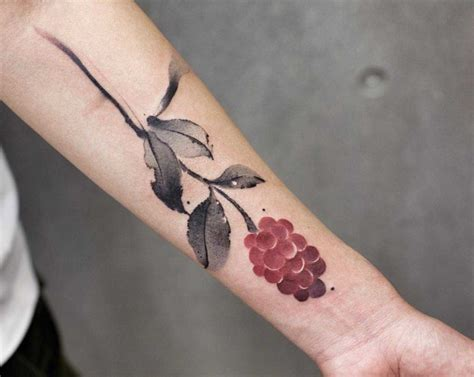 raspberry tattoo designs raspberry on arm best ideas gallery