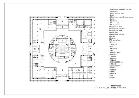 cultural center floor plan da chang muslim cultural center in hebei province china by