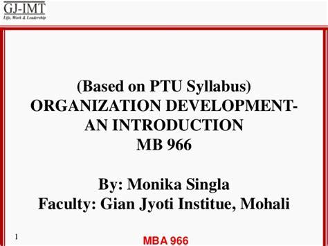 Mba Organizational Development by Unit 1 Od Characteristics Second Generation