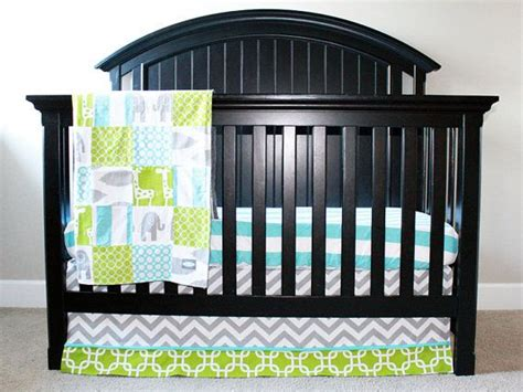 Lime Green Crib Bedding Custom Crib Bedding Aqua Grey And Lime Green By Gigglesixbaby Baby Ferg Babies