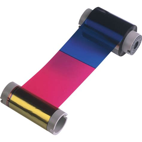 Ribbon Color Dtc1000 fargo 45000 ymcko color ribbon for dtc1000 45000 b h