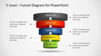 Funnel Diagram Powerpoint Template by 5 Level Funnel Diagram Template For Powerpoint Slidemodel