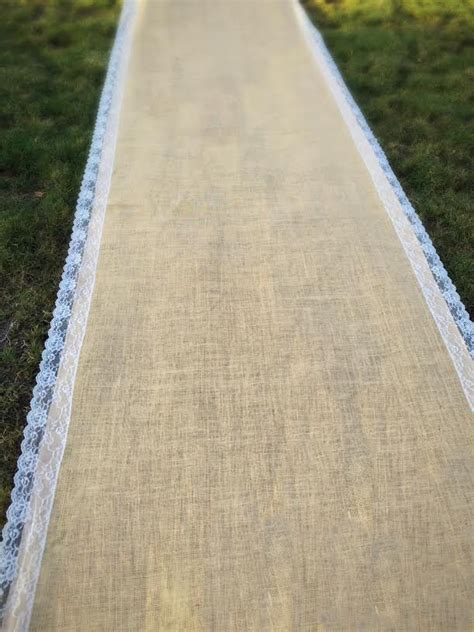 Wide Wedding Aisle Runner by Burlap Aisle Runner Burlap Wedding Aisle Runners Aisle
