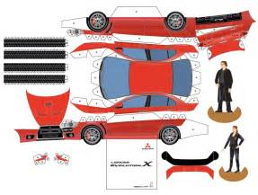 paper cars template mitsubishi paper cars cartype