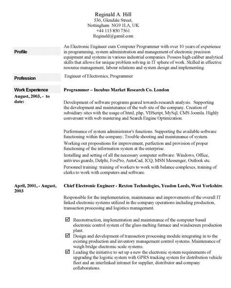exles of resume profiles resume ideas