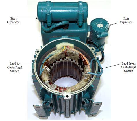 capacitor start capacitor run motor operation types of single phase induction motors single phase induction motor wiring diagram