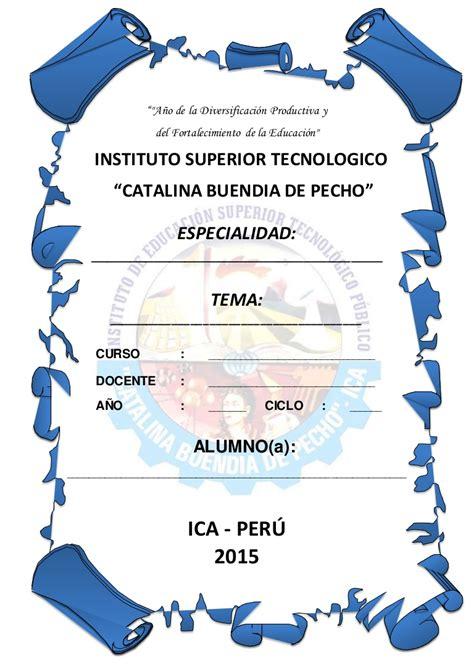 caratulas de senati para word caratula ist catalina