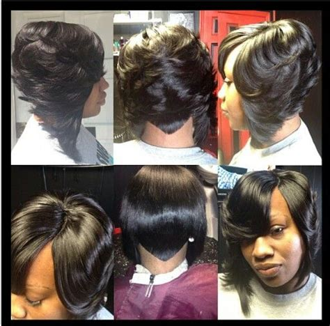 sew in bob hairstyles sew in bob that v line in the back is nice for mikklynn
