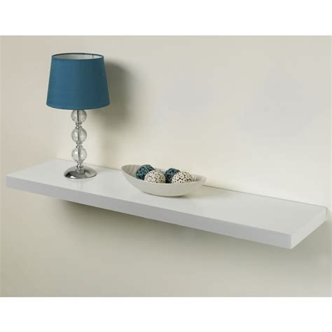 Floating Shelf 100cm by Practica Tendenza Floating Shelf Kit White 25cm X 100cm At