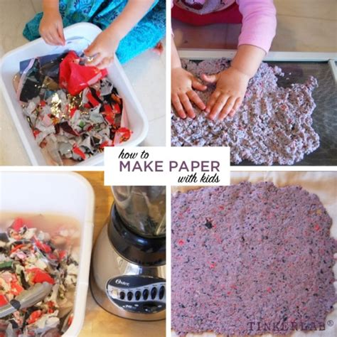 How To Make Recycled Paper At Home For - how to make paper with preschoolers tinkerlab