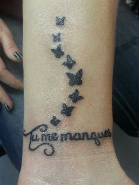 french wrist tattoos pin by tara gatlin on i miss you