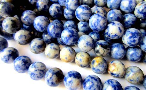 36 Sodalite Gemstone 8mm Blue C03