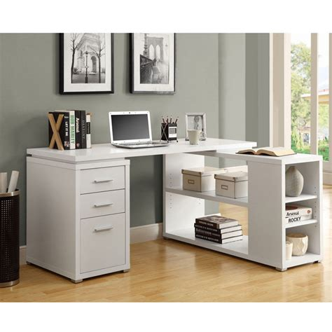 White Computer Desk With Storage by Choosing Computer Desks With Storage Ideas Greenvirals Style