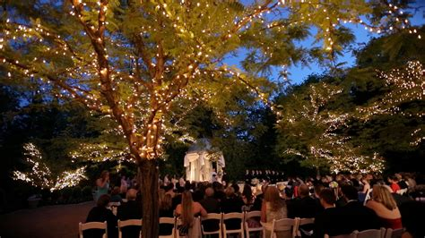 outdoor wedding reception lighting ideas at the estate at florentine gardens videography
