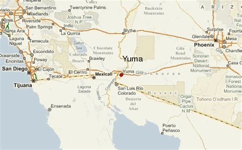 map of arizona yuma guide urbain de yuma