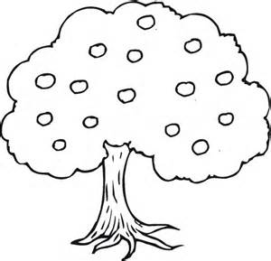 Outline Of A Tree Colouring Pages sketch template