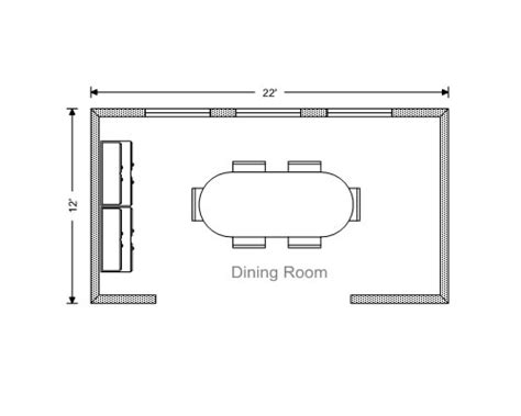 Dining Room Floor Plan by Ezblueprint