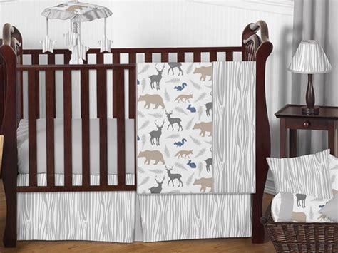 woodland animals baby bedding 11pc crib set by sweet