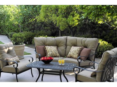 Darlee Patio darlee outdoor living series 60 cast aluminum 42 x 21