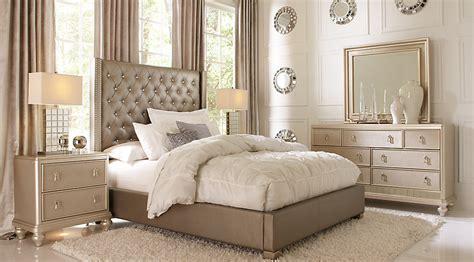 Sofia Vergara Paris Silver 5 Pc King Upholstered Bedroom King Bedroom Sets Colors
