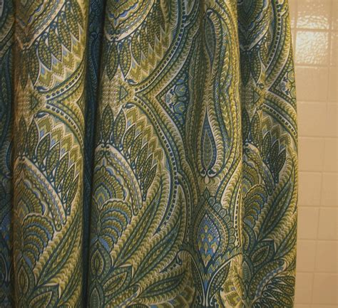 green paisley curtains custom shower curtains