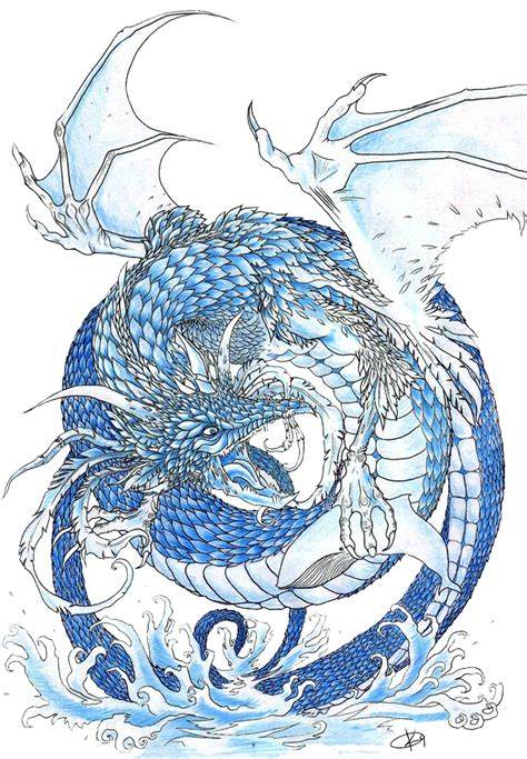 chinese water dragon tattoo designs water by koggg on deviantart