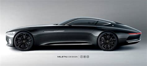 black on black maybach vision mercedes maybach 6 looks in black