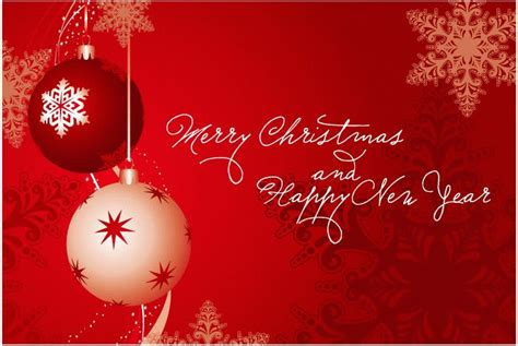christmas and a happy new year greeting cards vector